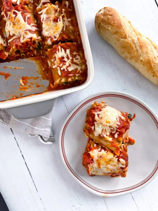 Spinach Lasagna Roll Ups Weight Watchers Lasagna