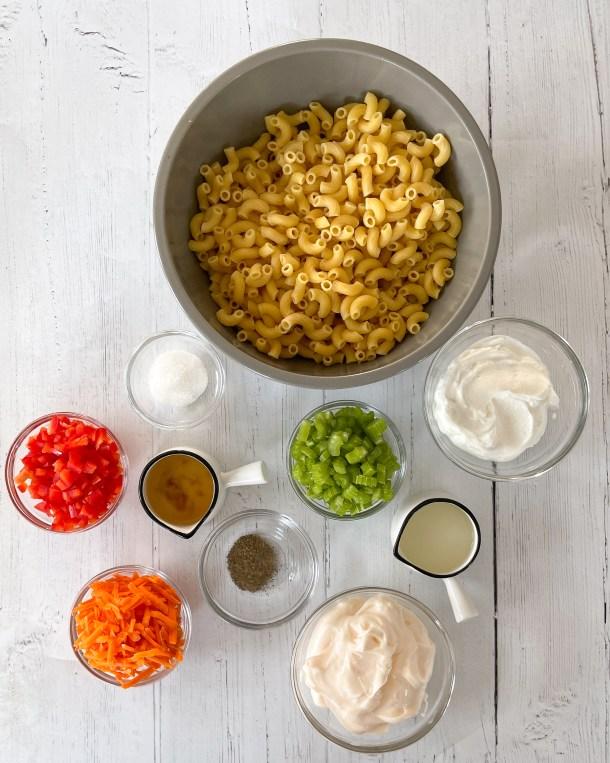 what is in macaroni salad greek yogurt