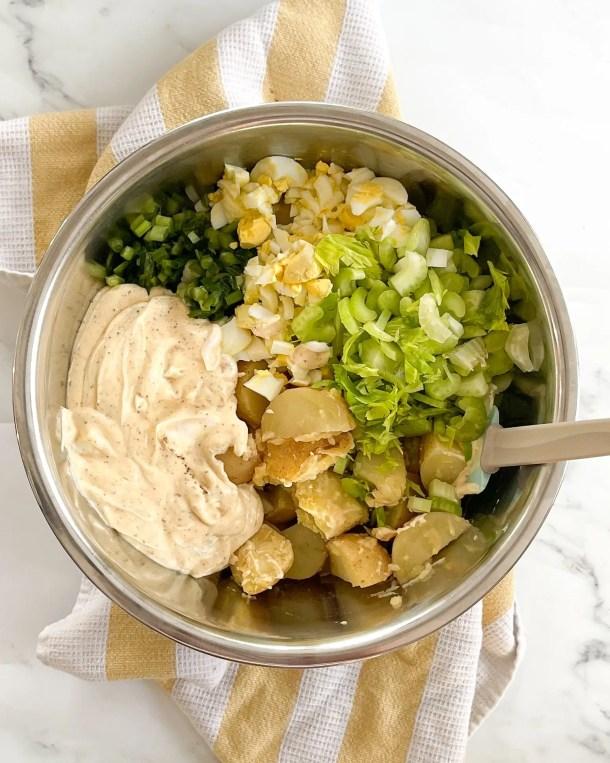 how to make potato salad dressing