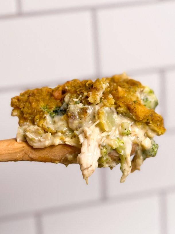 Chicken Stuffing Casserole with Vegetables