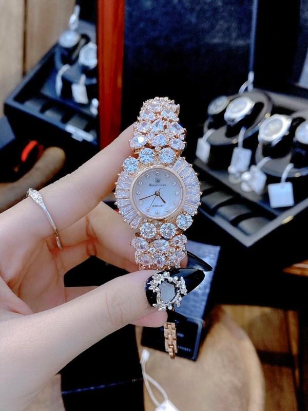 Đồng hồ Royal Crown nữ mặt tròn