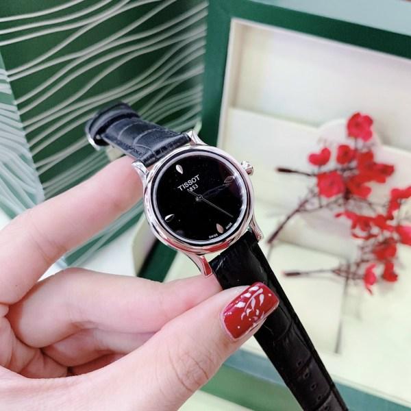 Đồng hồ Tissot nữ dây da màu đen