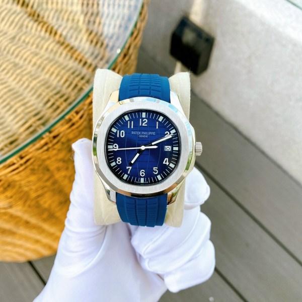 Đồng hồ Patek Philippe nam dây cao su màu xanh dương
