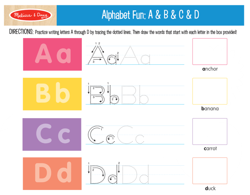 Fun Printables To Help Kids Practice Their Abc S