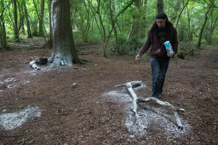 Matt Smith leaves a flour imprint from a large branch