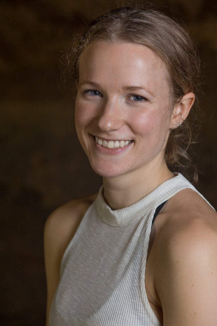 Portrait of dancer Amy Harris in the Maltcross in Nottingham
