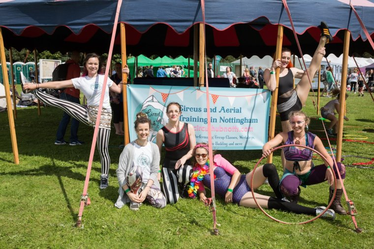 Circus Hub Nottingham at Gloworm Festival