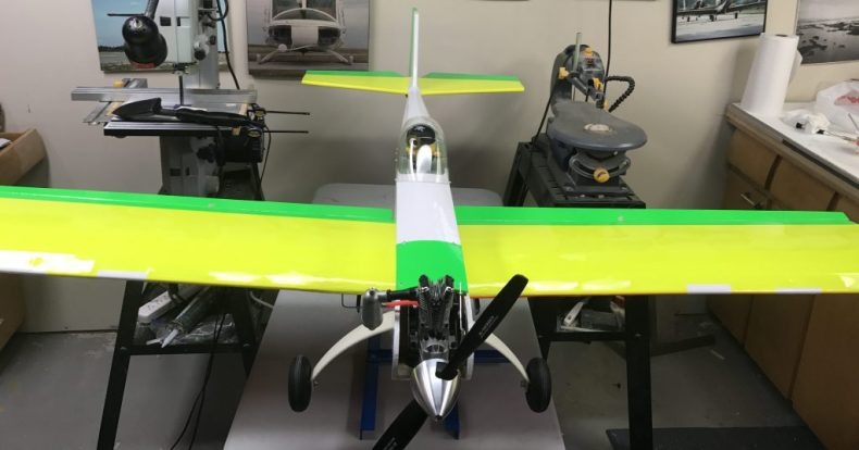 Finished Plane Top Front View