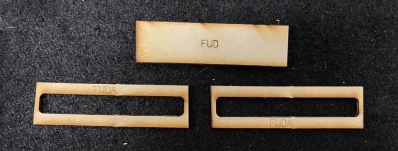 FUD and 2 FUDA's Sanded