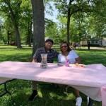 Residents enjoy shade from beautiful Oak trees