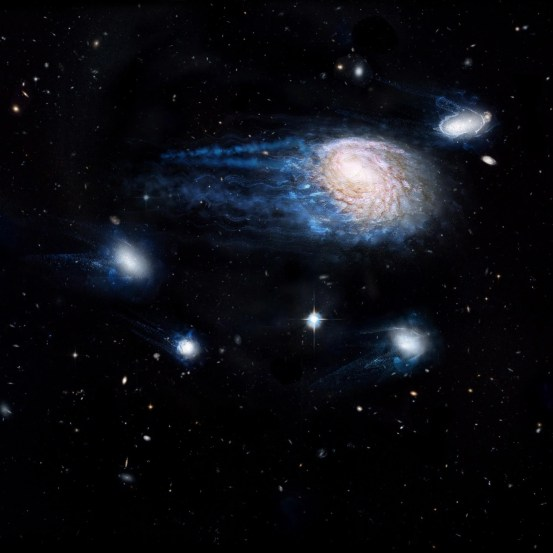 Small satellite galaxies contain less molecular gas in their centers