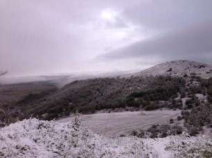 Hiking, day 5. I wasn't expecting snow.