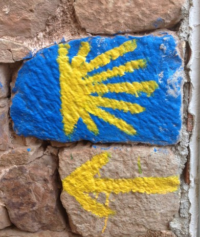My favorite arrow and shell from the Camino.