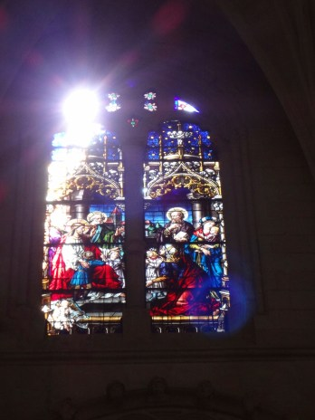 Stained glass from inside the Cathedral.