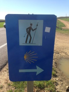 More Camino signs and sign vandalism.