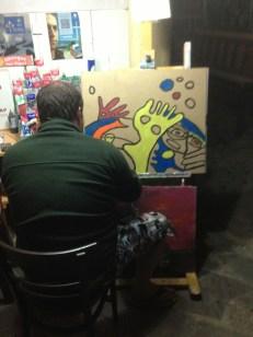 Camino graffiti becoming Camino art.