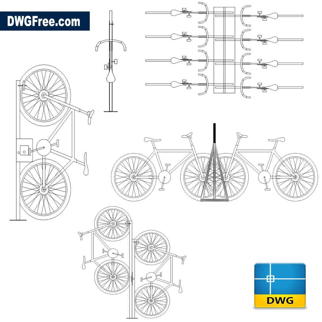 Full Urban Bicycle Dwg Drawing