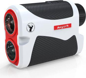 Anyork Golf Rangefinder 6X Laser Range Finder 1500 Yard with Slope On/Off