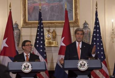 Bruno Rodriguez & John Kerry @ U.S. State Department