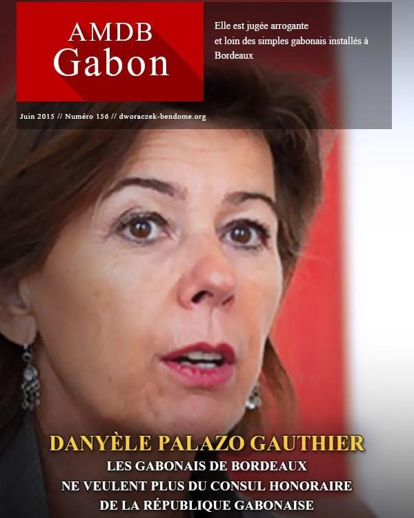 Les Gabonais résidents à  Bordeaux ne veulent plus de DANYÈLE PALAZO GAUTHIER comme Consul