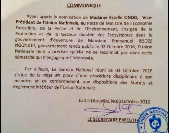 GABON-UN : Estelle Ondo, Ledoux Mbovoué Edou, pas d'égalité de traitement