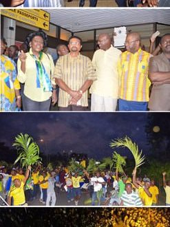 De retour au Gabon, Jean Ping Président élu, ravive l'espoir aux Gabonais et Gabonaises