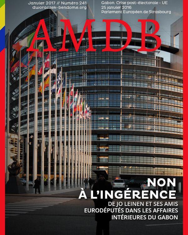 AM DWORACZEK BENDOME 25 JANVIER 2017 DEVANT LE PARLEMENT EUROPEEN - Crise postélectorale-UE : Non à l'ingérence dans les affaires intérieures du Gabon