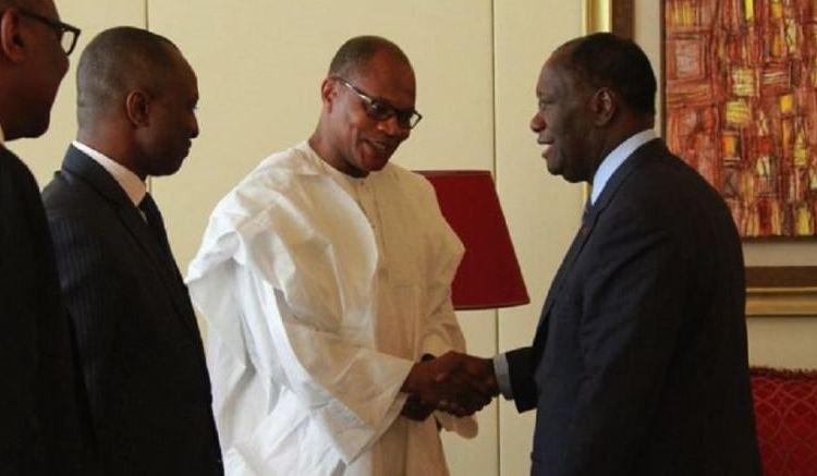 Mohamed Ibn Chambas et Alassane Ouattara - Côte d'Ivoire : Mohamed Ibn Chambas boucle sa visite