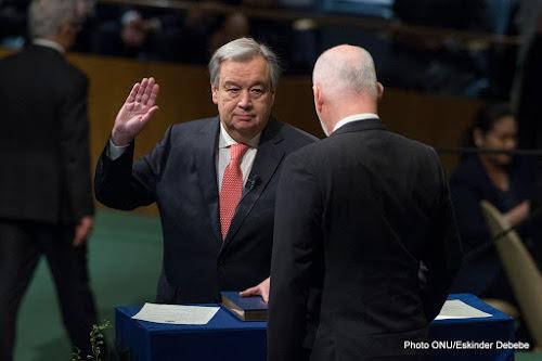 Antonio Guterres appel à « la restauration de la paix dans le monde »