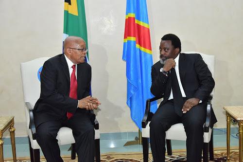 La Prospérité: «Kabila-Zuma, échanges fructueux à Kinshasa !»