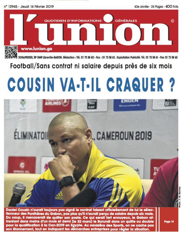GABON/SPORT/FOOTBALL : Daniel Cousin sans salaire depuis sa nomination