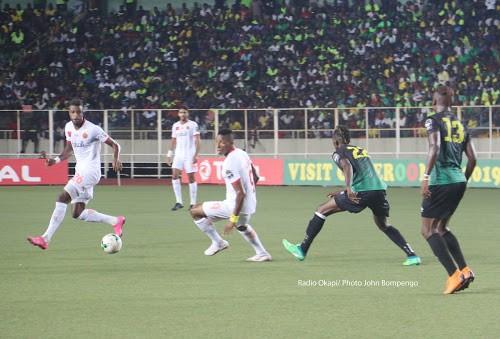 Association Sportive Vita Club de Kinshasa contre Renaissance Sportif de Berkane au stade des martyrs à Kinshasa, le 16/09/2018 score : 3-1. Photo John Bompengo