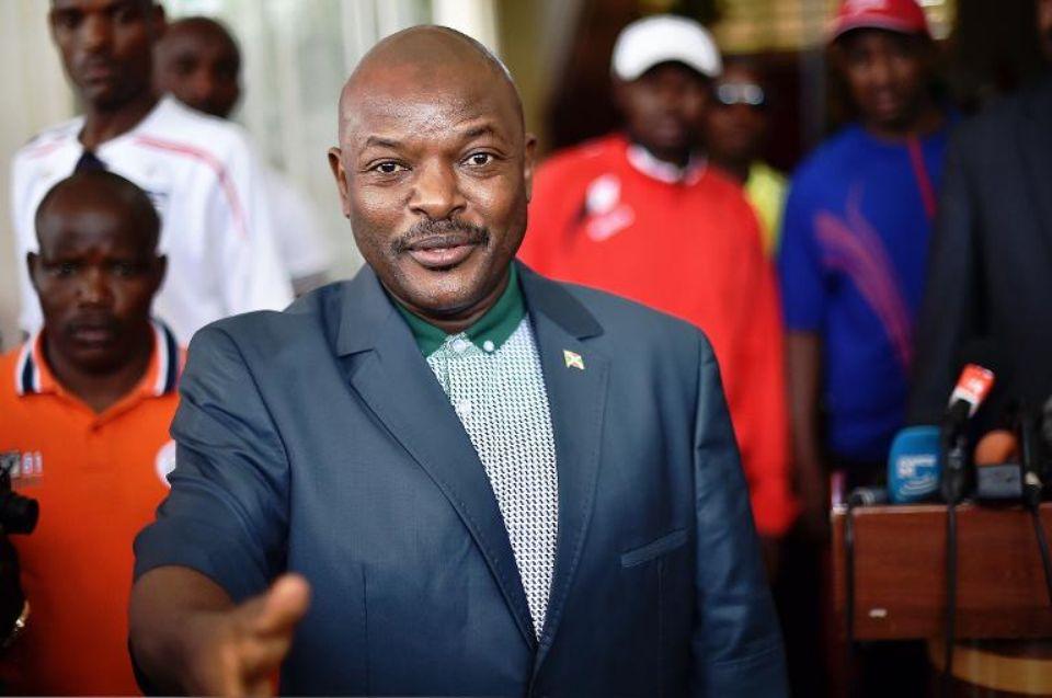 le president du burundi pierre nkurunziza le 17 mai 2015 a bujumbura  - Burundi: M. Nkurunziza en appel du rejet de sa plainte contre France Télévision et Me Maingain