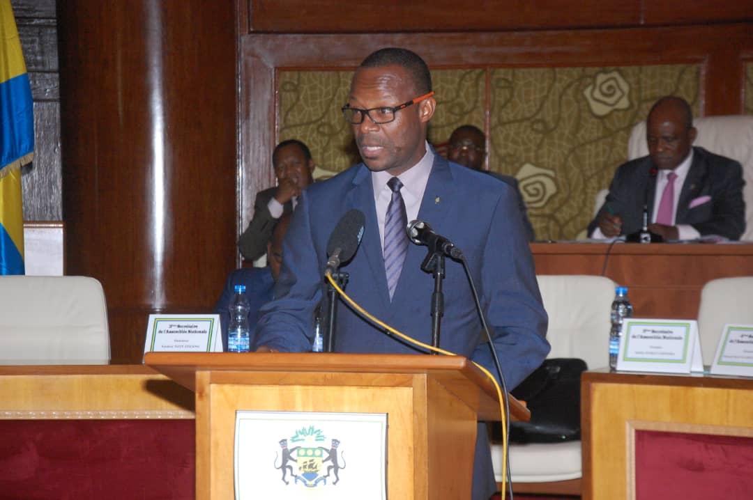 Assemblée nationale : Interview de l'honorable Rodrigue Abourou Otogo.