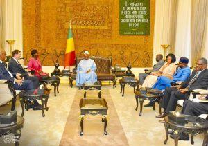 La secrétaire générale de l'Organisation internationale de Francophonie reçue à Koulouba