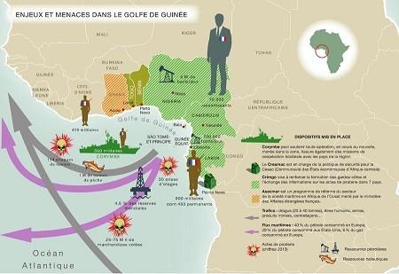 infographie enjeux et menaces dans le golfe de guinee - Golfe de Guinée : les prétextes sont là