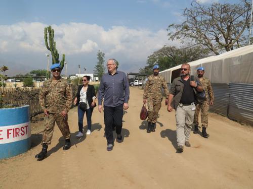 Le Représentant spécial adjoint a.i. du SG de l'ONU en RDC François Grignon, est arrivé ce 16/8/2019 à Sange, territoire d'Uvira. Photo MONUSCO.