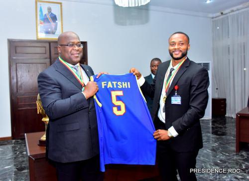 Tournoi- basket : Felix Tshisekedi encourage les Léopards