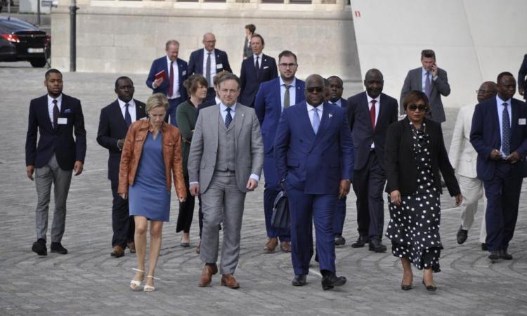 Visite du président congolais en Belgique: Félix Tshisekedi fait un tour d'horizon du Port d'Anvers