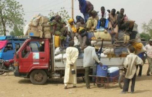 Migrants en partance pour un site d'orpaillage. Issa Aboud Yonlihinza
