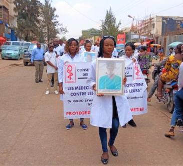 RDC : marche des médecins à Bukavu pour exiger leur sécurité