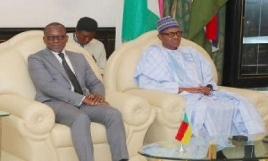 Les présidents Patrice Talon (Bénin) et Muhammadu Buhari (Nigeria)
