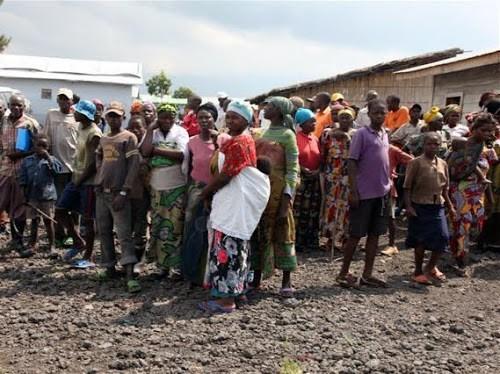 Nord-Kivu : au moins 1100 ménages fuyant les affrontements entre FARDC et miliciens s'installent à Mwesso