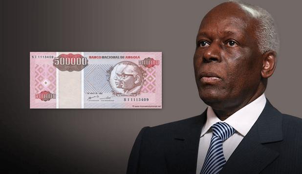 Angola : Dès 2020 plus de billets à l'effigie de l'ancien Président dos Santos