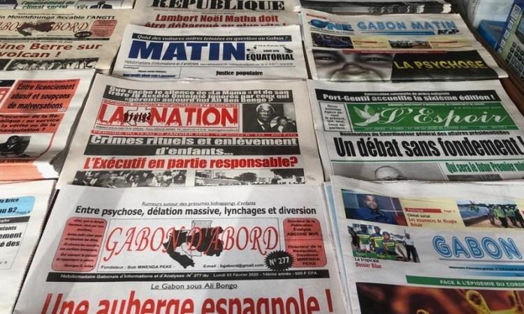 Gabon / Médias : La revue de la presse gabonaise de la semaine du 3 au 9 février 2020