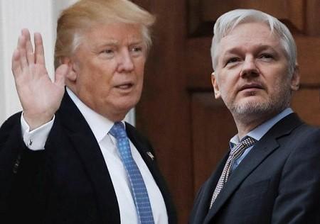 WikiLeaks : Trump pardonnerait à Assange s'il niait l'implication russe dans les fuites de 2016 ( Avocat)
