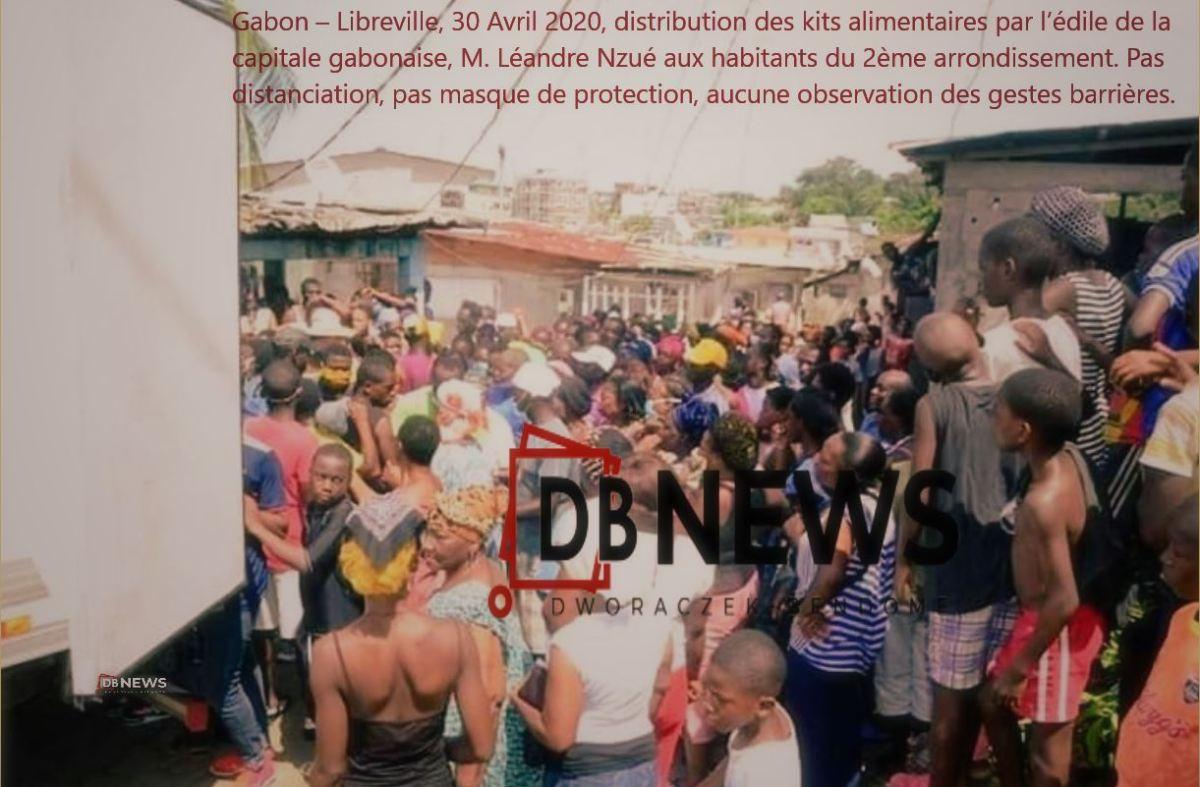 30 avril 2020 2 distribution des kits alimentaires dans le 2e arrondissement de Libreville par lédile de la capitale Léandre Nzué - GABON | GESTION DU CORONAVIRUS PAR LES AUTORITES : DE QUI SE MOQUE-T-ON ?