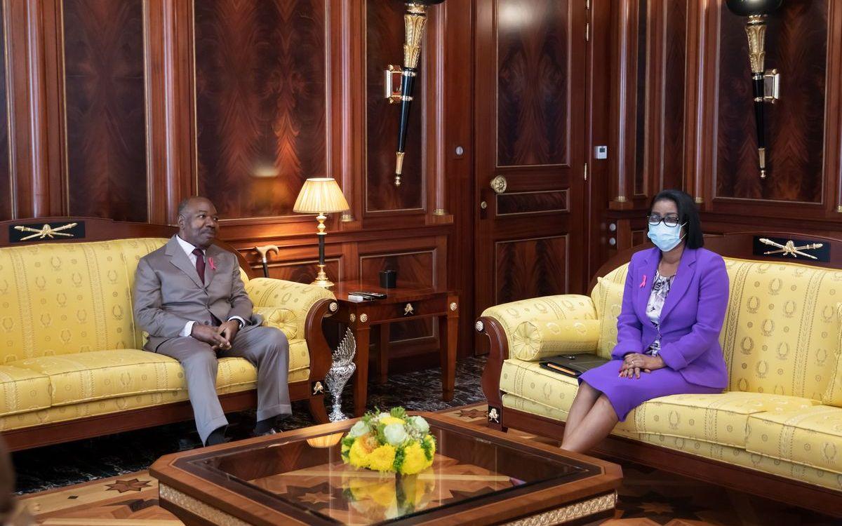 SE Ali Bongo Ondimba reçoit Rose Christiane Ossouka Raponda