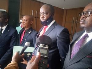 Le regroupement politique Alliance pour la Transformation Intégrale du Congo, ATIC, de Jean Paul Nemoyato signe son adhésion, samedi 23 janvier 2021, à l'Union sacrée pour la nation (USN). Il comprend 12 députés nationaux. Radio Okapi/Ph. Paul Matendo.