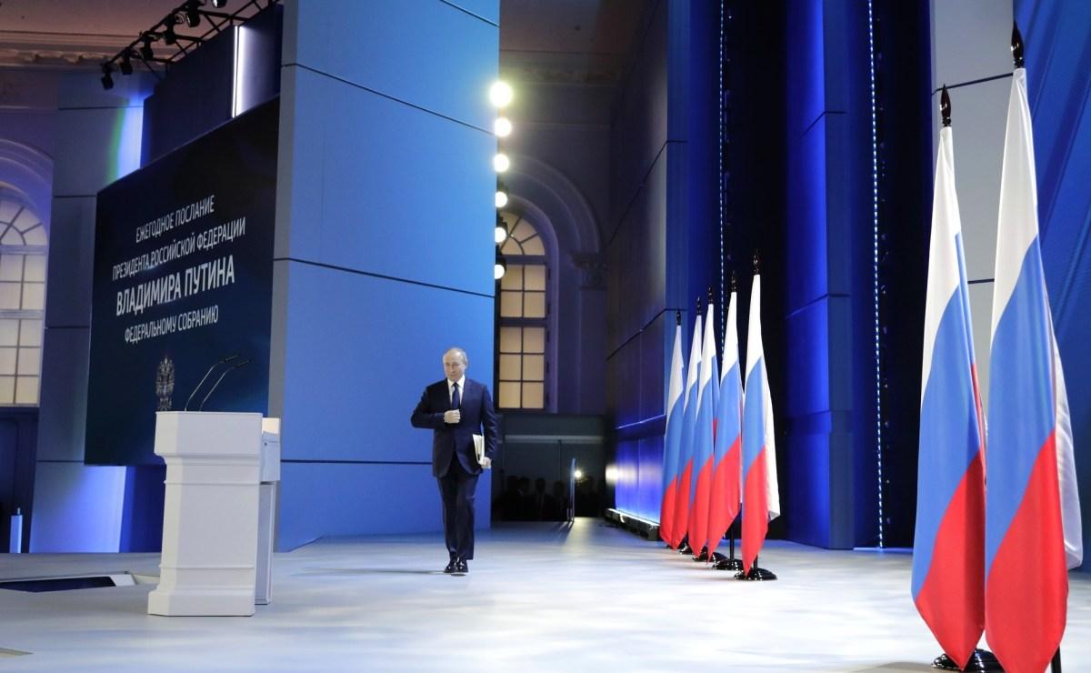 21 avril EzfMxFaXIAQxDni - Russie, Kremlin : discours annuel de Vladimir Poutine à l'Assemblée fédérale